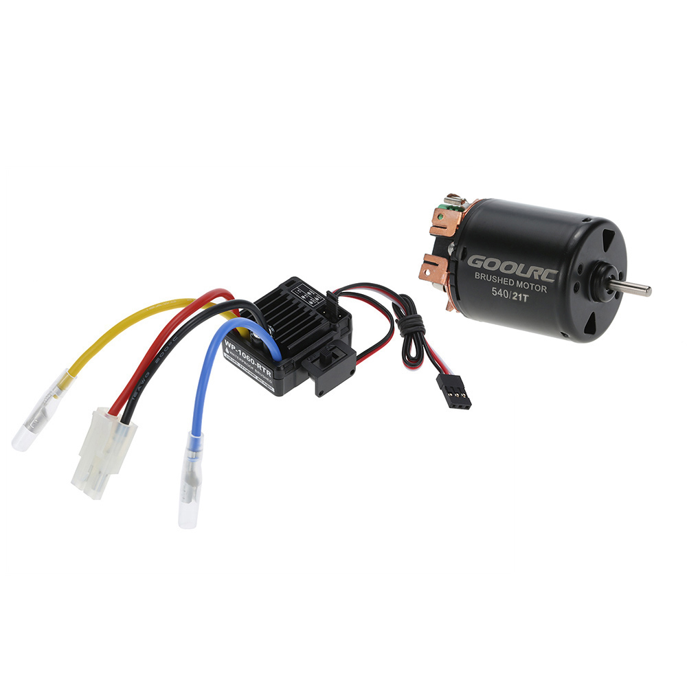 RC car 54021T Poles Brushed Motor and 60A Waterproof Brushed ESC lithium battery 7.4 to 11.1 V lithium battery 6V to 12Vvoltage lithium battery scissors 3 6v electric