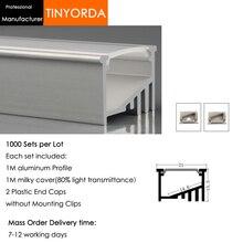 Tinyorda 1000 шт.(длина 1 м) светодиодный профиль Alu светодиодный профиль канала для 14 мм Светодиодные полосы света 1 м светодиодный профиль Alu профильный кабельный канал