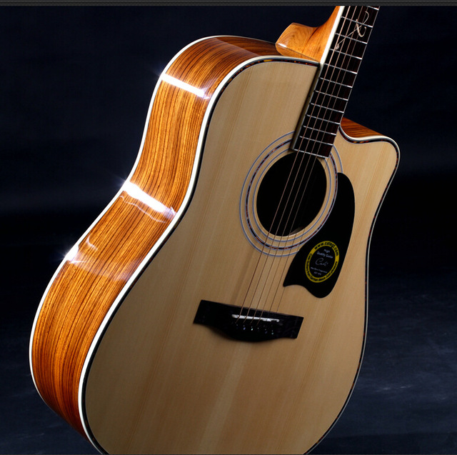 Cheap 41-27 NEW guitars 41 inch high quality  Acoustic Guitar Rosewood Fingerboard guitarra with guitar strings