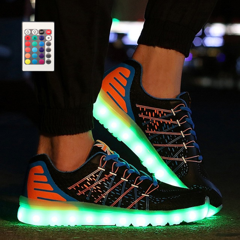 Control remoto Para Hombre nueva Led de Zapatos Hombres led