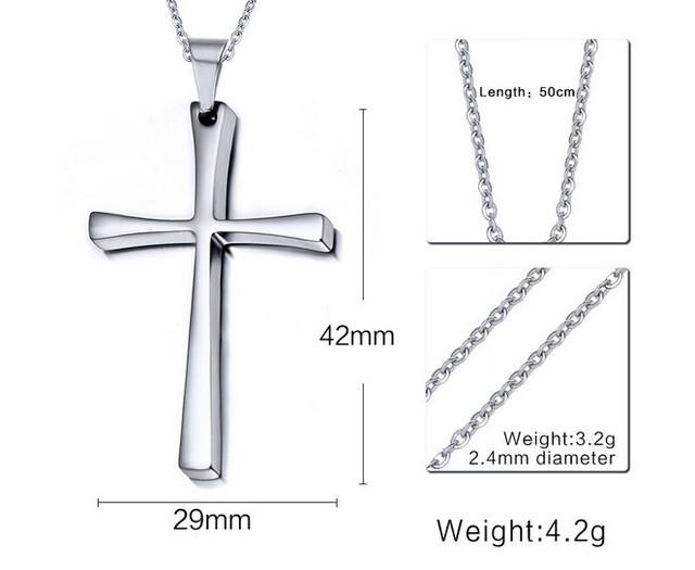 christian cross pendant necklace