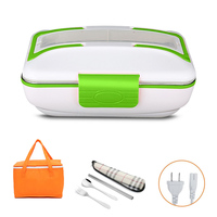 220V Electric Stainless Steel With Compartment Lunch Box Student Office Home Bento Boxs Heateing Food Warm Container Portable
