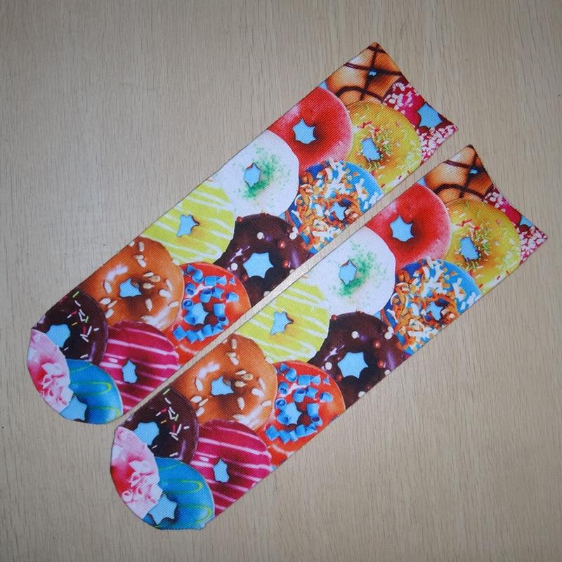 10 Pairs/Lot Custom Fashion Design Cute 3D  Printed Socks New Unisex Low Cut Ankle Socks Multi Color Casual Cartoon Animal Socks