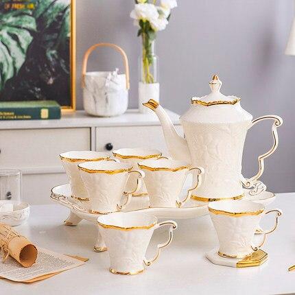 Europäische Keramik Haushalt Tee Tasse Set Einfache Wohnzimmer Wasser Mit Wärme beständig Tee Set Teekanne Kreative Kaffee Becher wasser Tasse - 5