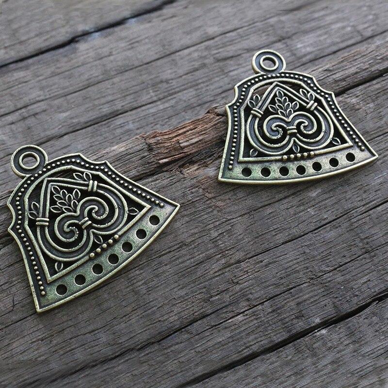 Lanseis 10 paire viking broche boucle accessoires slave ethnique bijoux-in Pendentifs from Bijoux et Accessoires    2