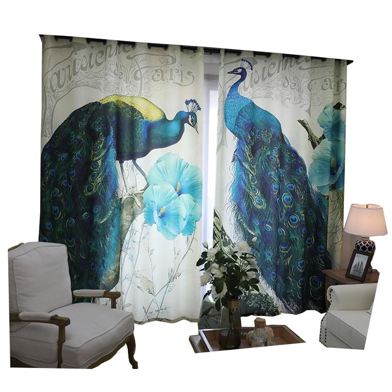 Pretty Peacock басылған Жануарлардың - Үй тоқыма - фото 2
