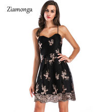 Ziamonga Retro Summer Sexy Spaghetti Strap Sequined Dress Women Sexy Skater  Dress Strapless Cocktail Party Dancing Dress Vestido c8a1bdf84a2f
