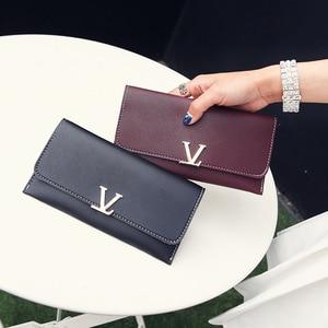 Black Luxury Long Wallet Women