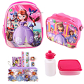 2016 children school bag set sofia 3D nylon backpacks for teenage girls lunch pencil case mochilas character kids school bags