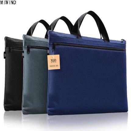 Miwind Новый A4 холст офис Мужские Портфели для Для мужчин и Для женщин легкая сумка Для мужчин для хранения файлов сумка Мужские Портфели 1338