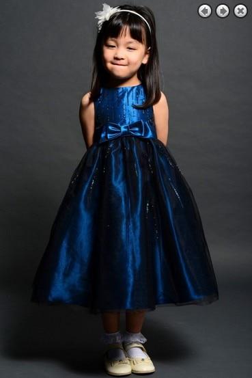 Livraison gratuite fleur fille robes pour les mariages 2016 bleu royal partie robes communion badine noël de reconstitution historique pour les filles