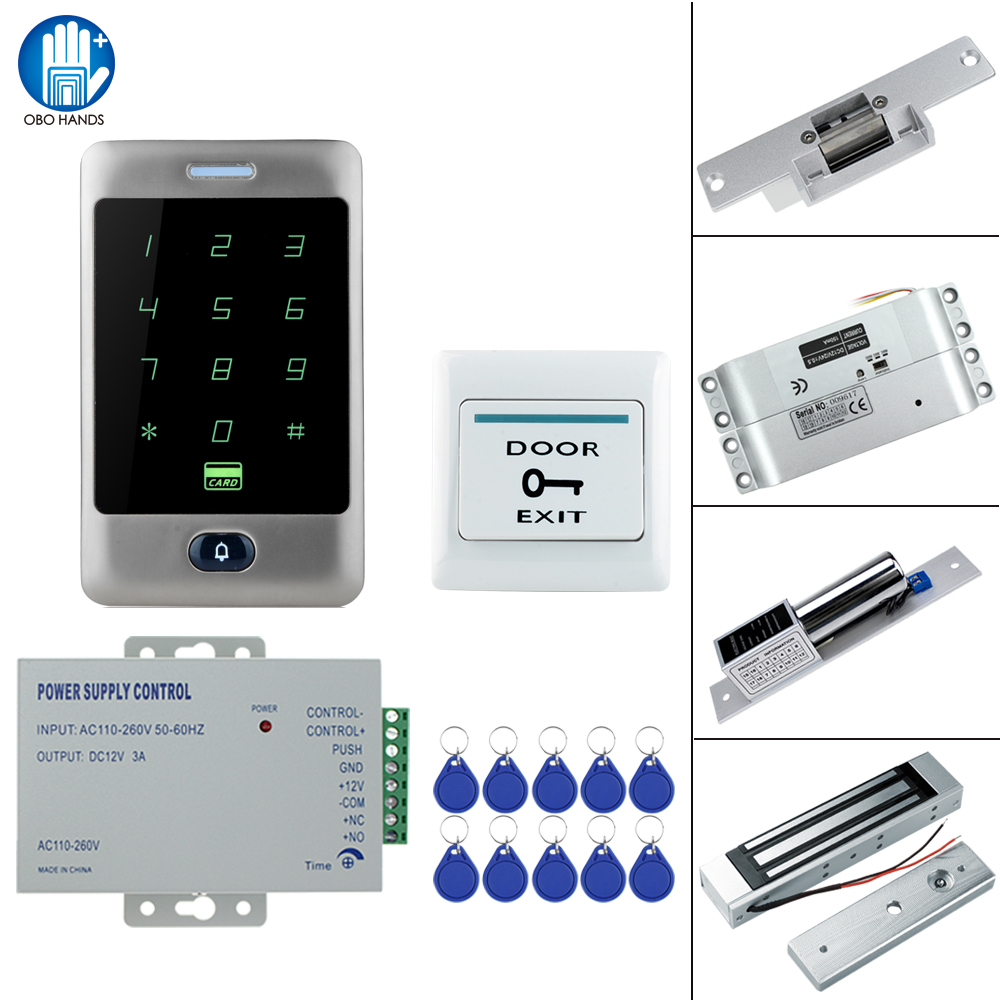 RFID Touch Waterproof Metal Access Controller System with 12VDC NC/NO Electric Bolt Lock /Magnetic Lock for Security door-in Access Control Kits from Security & Protection