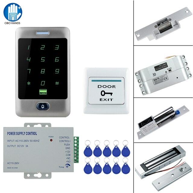 RFID сенсорная Водонепроницаемая металлическая система контроля доступа с 12 В постоянного тока NC/без электрического болтового замка/магнитный замок для двери безопасности