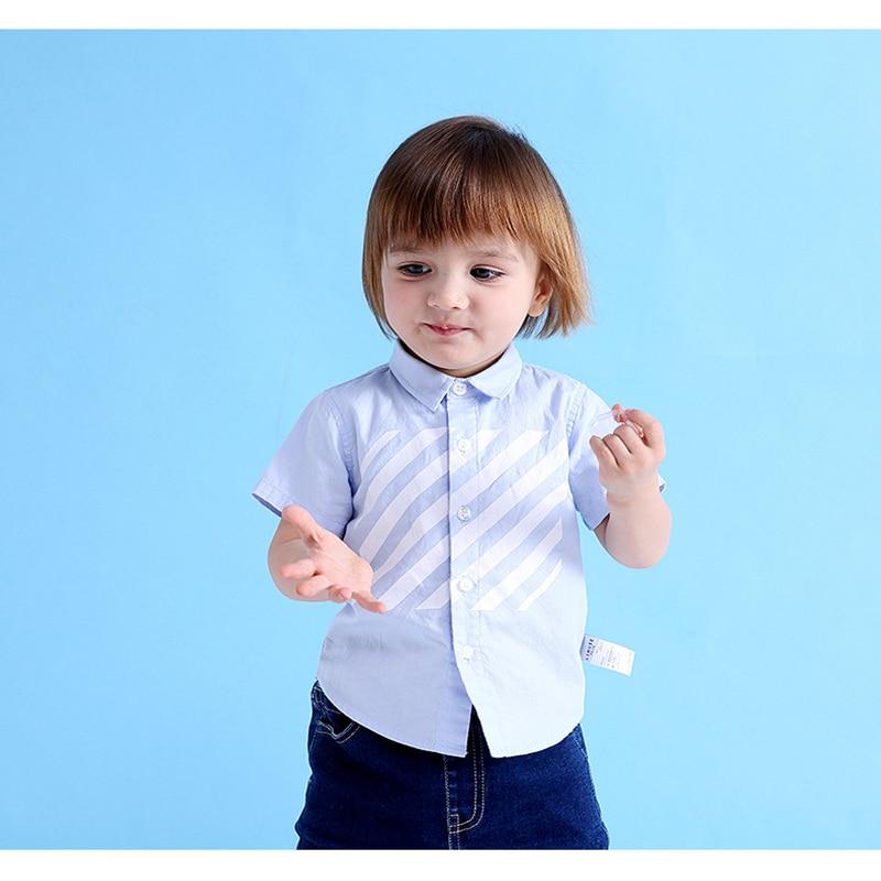 Nowość 2018 Marka Letnia Bawełniana Dziecięca Chłopięca Odzież - Ubrania dziecięce - Zdjęcie 4