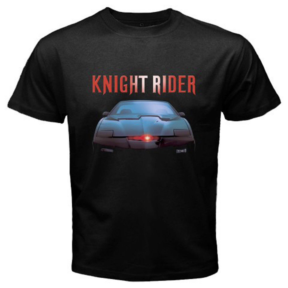 New KNIGHT RIDER Classic Retro Movie TV Show Mens Black T-Shirt Size S to 3XL