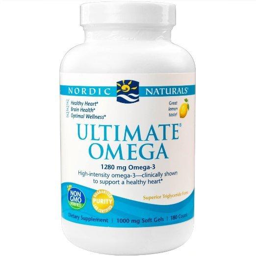 Omega Nordic Naturals-Final, suporte para um Coração Saudável, 180 Cápsulas Gelatinosas
