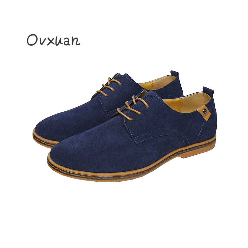 Ovxuan Simple Office Design Casual Shoes Nubuck Leather Fashion Wedding Party and Banquet Men Flats British Style Male Loafers newest design men summer sandals style flats fashion casual breathable genuine leather punching shoes for men simple shoes male