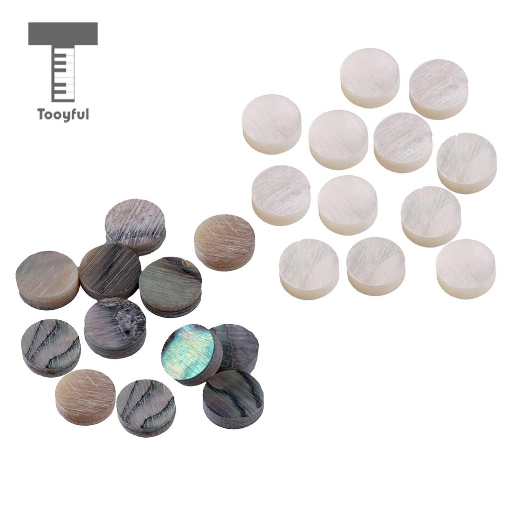 2019 Latest Design Tooyful 12pcs 6mm/0.23 Luthier Fingerboard Dots With Inlay Material For Guitar Bass Ukulele Banjo Mandolin Parts Decor Gift Agreeable To Taste Stringed Instruments