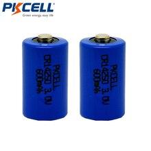 2 шт PKCELL CR 14250 батарея 1/2 AA 3V 600mAh цилиндрическая LiMonO2 литиевая батарея батареи