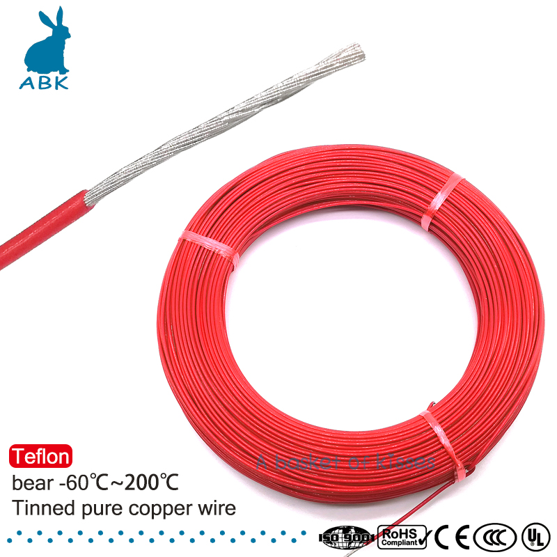 50m 100m 16AWG Teflon flame retardant high quality wire AC220-600V Household wire electric power cable 14x16mm ptfe teflon tubing pipe id14mm od16mm 600v high quality brand new wire protection f46 1 meter