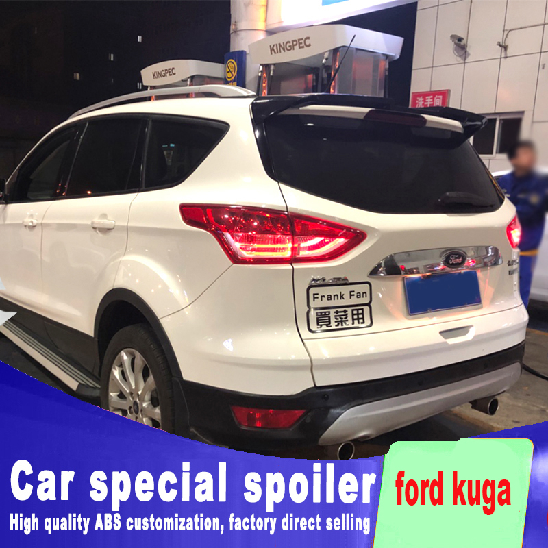 Double flow For ford kuga ST spoiler high quality ABS material primer or black white paint by rear roof wing tail rear spoilerDouble flow For ford kuga ST spoiler high quality ABS material primer or black white paint by rear roof wing tail rear spoiler