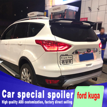 цена на Double flow For ford kuga ST spoiler high quality ABS material primer or black white paint by rear roof wing tail rear spoiler