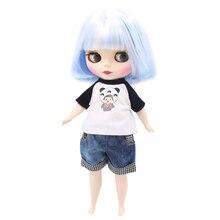 Muñeca blyth regordeta de fábrica 1/6 30cm mezcla blanca cuerpo gordo azul piel blanca mate/cara esmerilada juguete de regalo 130BL1366005