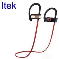 Itek Wireless Professional Sport Bluetooth Earphones Ear Hook IP4 Sweatproof Noise Canceling Headset With Mic For