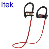 Itek Wireless Professional Sport Bluetooth Earphones Ear Hook IP4 Sweatproof Noise Canceling Headset With Mic For