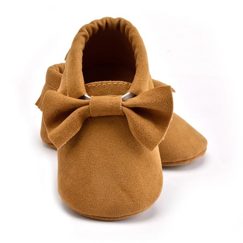 Hot Sale PU Suede Leather Newborn Baby Boy Girl Moccasins Soft Shoes Bebe Fringe Soft Soled Non-slip Footwear Crib Shoes