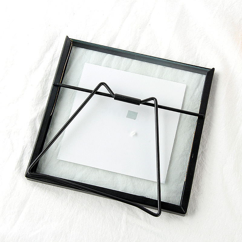 Creative Black Metal & Glass Photo Frame Portrait Holder ...