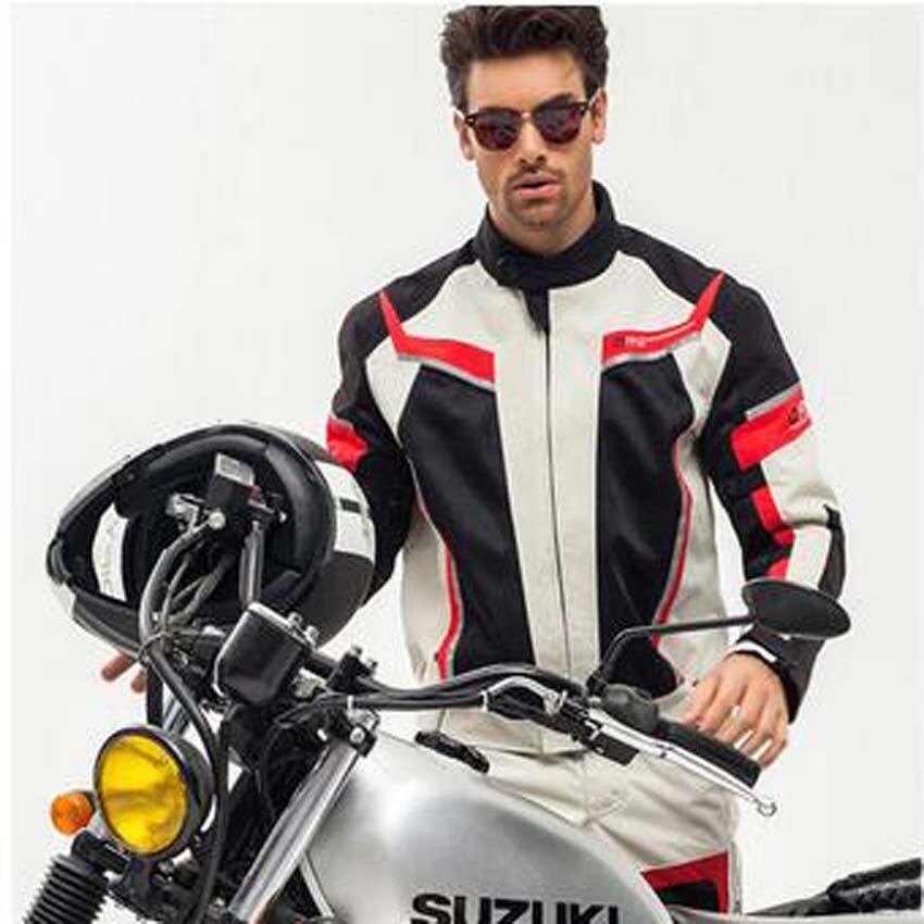 2017 новый ДУХАН мотоцикл езда костюм куртка брюки мужчины летом сетки дышащей ткани мотогонщиков D185 брюки Рефлектив 3М