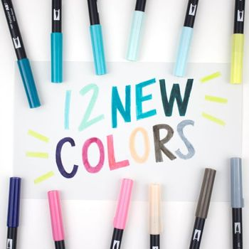 1PCS TOMBOW AB-T Japan 96 colors Calligraphy pen Art Brush Marker Pen Profession Water Marker Pen painting school supplies