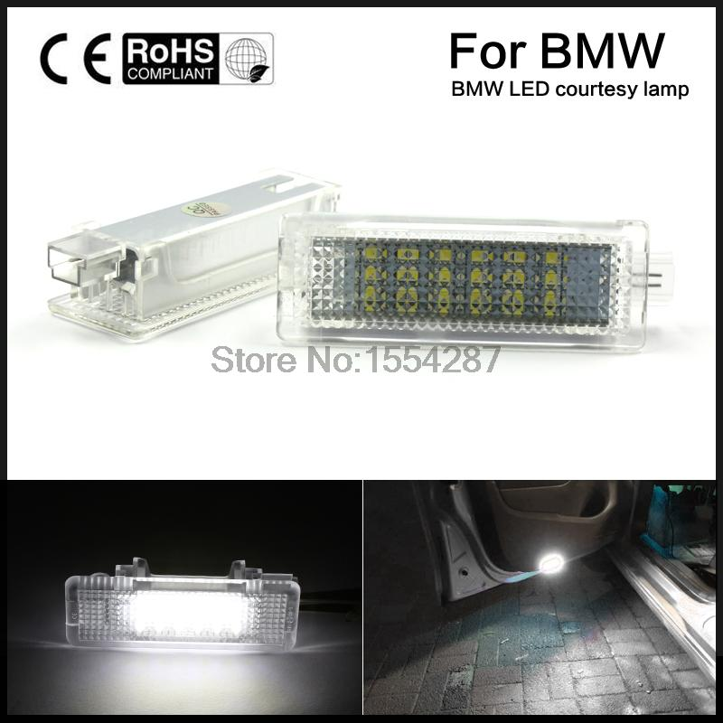 2pcs Direct Fit LED Courtesy Door Lamps for BMW 1/3/5/7/X/Z Canbus Error Free