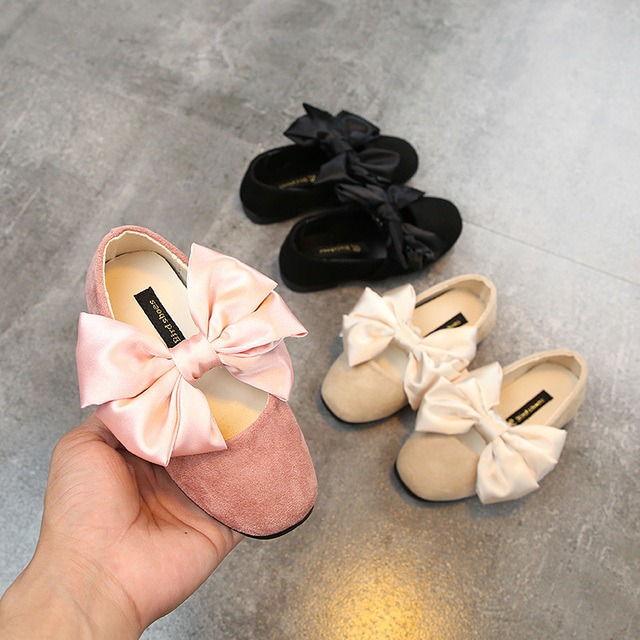 6fe63b484 New Spring Autumn Baby Flats Toddler Girls Casual Shoes Cute Big Butterfly- knot Princess Shoes for Little Kids