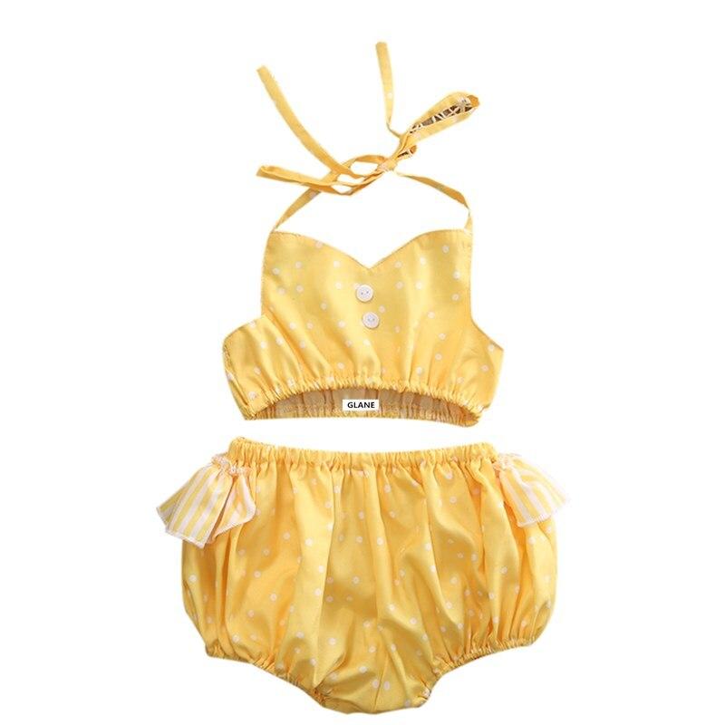 0 24 m neonate capretti neonato halter maniche volant a pois bikini set costumi da