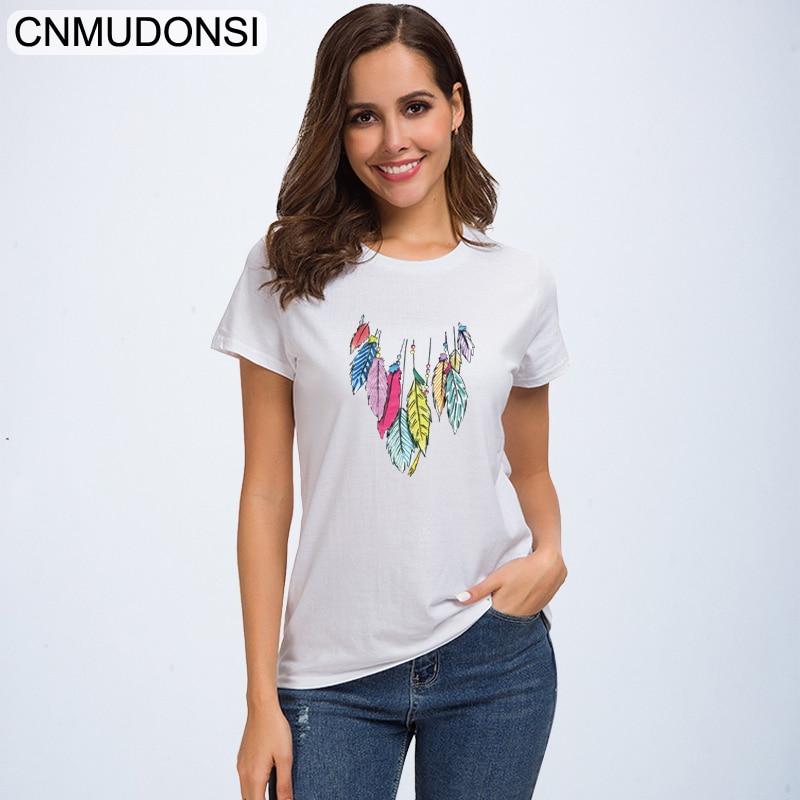 CNMUDONSI 2019 t shirt women funny cotton summer t-shirt femme tee shirt best friends basic tshirt top vintage ladies tshirts