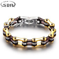 SDA Best Gift  for girl & women Jewelry Fashion Charm Bracelets 316L Stainless Steel Candy Red bicycle Chain Bracelet YM096