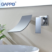 GAPPO water mixer bathroom sink Faucet tap Basin tap mixer wall mounted basin faucets chrome basin faucet brass bathroom mixer