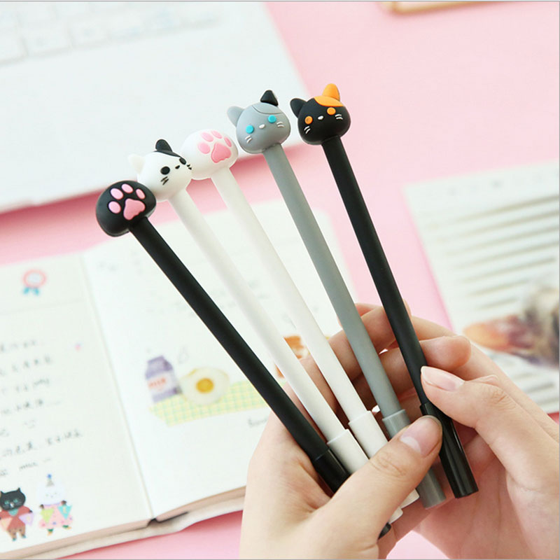 4pcs lot kawaii Creative cute cat claw gel pen student study water pen Office school stationery Supplies gift of the child in Gel Pens from Office School Supplies
