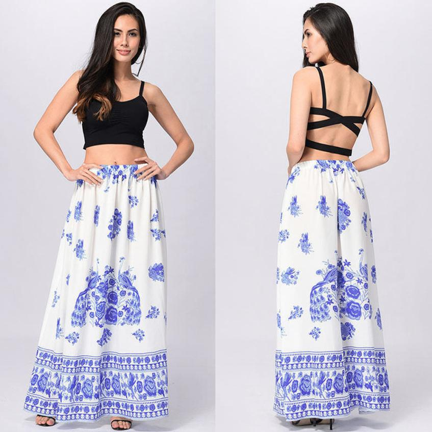 839d9dc95d ... Women Boho Maxi Skirt Beach Skirts Floral Holiday Fashion Summer High  Waist Long Skirt Freeshipping  J05. -23%. Click to enlarge