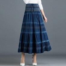 longa cintura maxi saia