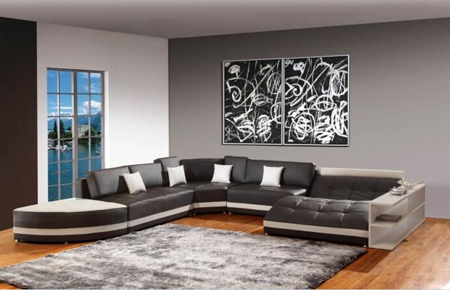 Moderne Echtes Leder Sofa Sofas Für Wohnzimmer Ecksofa