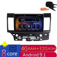 10 4G RAM 2.5D IPS 8 CORE Android 9.1 Car DVD Multimedia Player GPS for Mitsubishi Lancer 2008 2009 2016 car radio navigation
