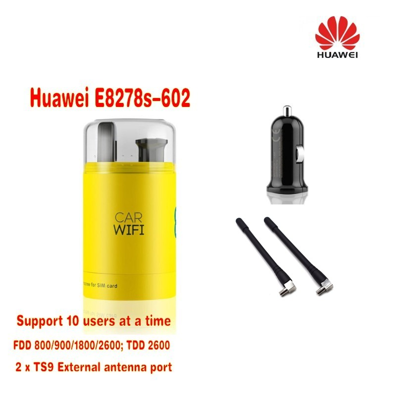 все цены на Huawei E8278 E8278s-602 800/900/1800/2600MHz FDD TDD usb 4g wifi pocket modem Plus 2pcs antenna онлайн