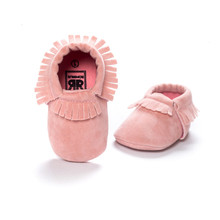 hot moccs pink color baby girls boys shoes First Walkers