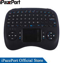 iPazzPort Spanish Backlight Mini Wireless Keyboard Air Mouse with TouchPad for Android TV Box/Raspberry Pi 3/Mini PC/Laptop