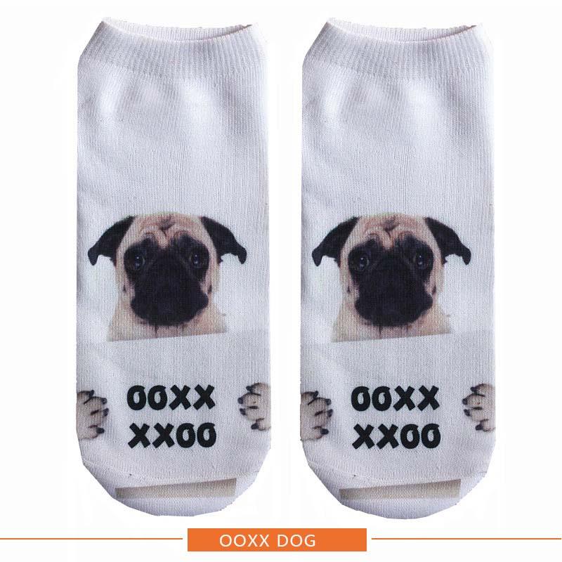 Pug Funny Dog Mens Cotton Socks 2 PACK