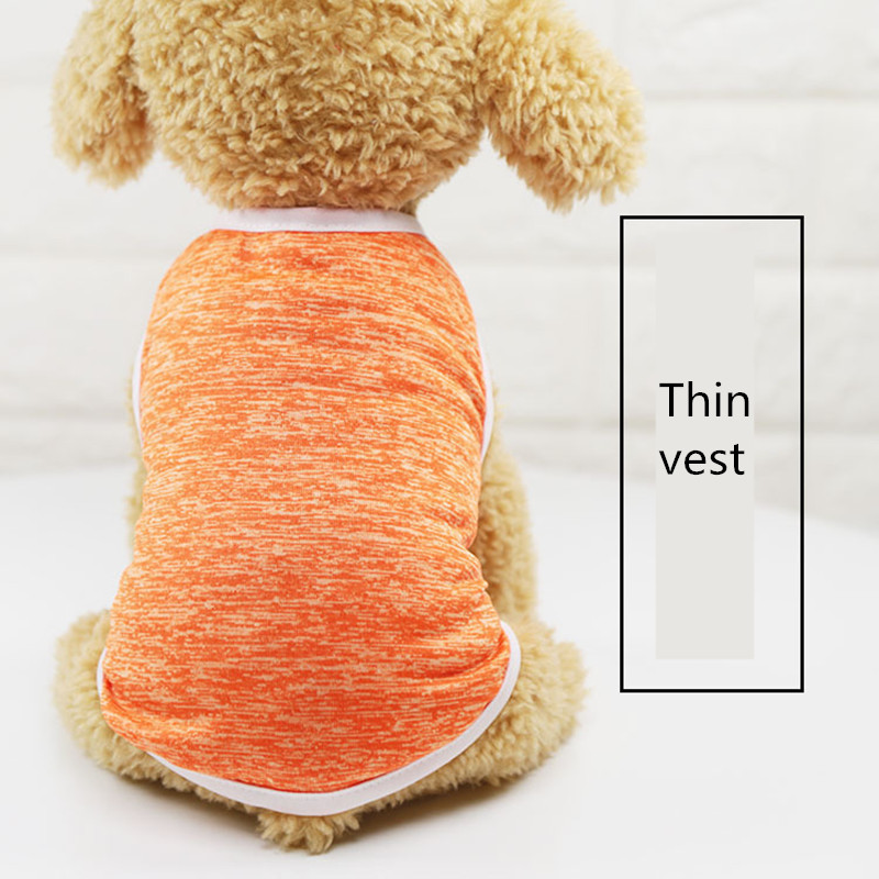 2019 classic Pet Clothes for Small Dog Girl Dog Boy Summer thin section dog grooming Gray orange accessories t-shirt AprT3 (1)