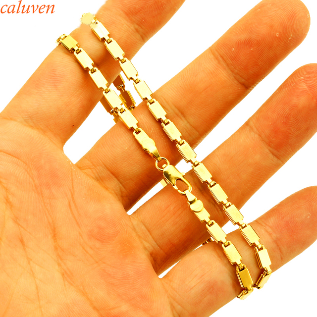 31cc50175653a US $4.3 |45CM Box Chain Gold Color Copper Figaro Chain, Snake Chain, Cuban  Link Curb Chain Necklace For Man & Women Fashion Gift Jewelry-in Chain ...